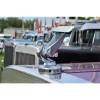Chrome Swan Truck Hood Ornament With Base Side