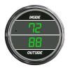 Truck Inside Outside Air Temperature TelTek Gauge - Green