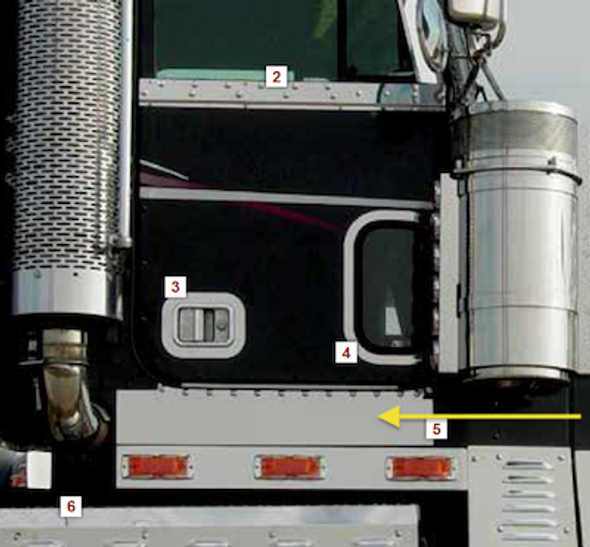 Freightliner Classic Door Panels With Dimples By RoadWorks