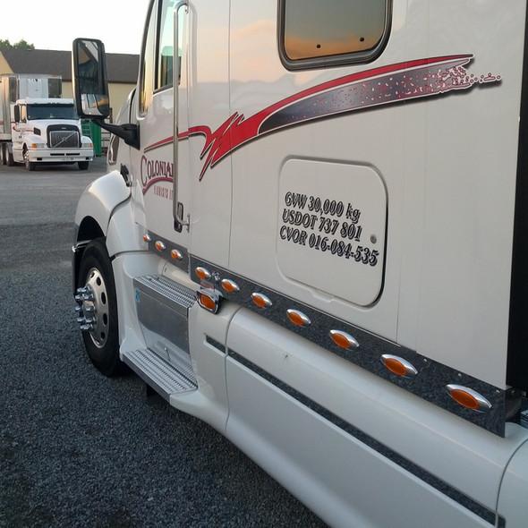 Peterbilt 387 Cab Panels With 6 M1 LED Lights By RoadWorks