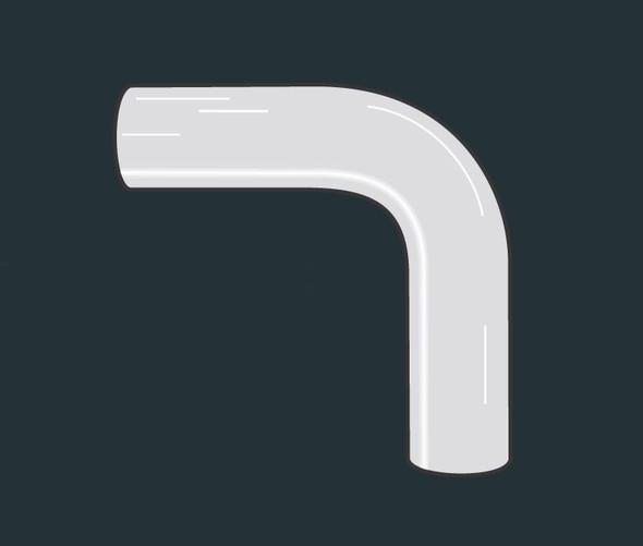 "Chrome Exhaust Elbow Universal 90 Degree 5"" Diameter 15.5"""