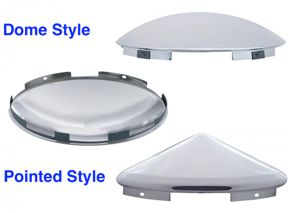 Universal Front Hub Cap Chrome and Stainless Steel