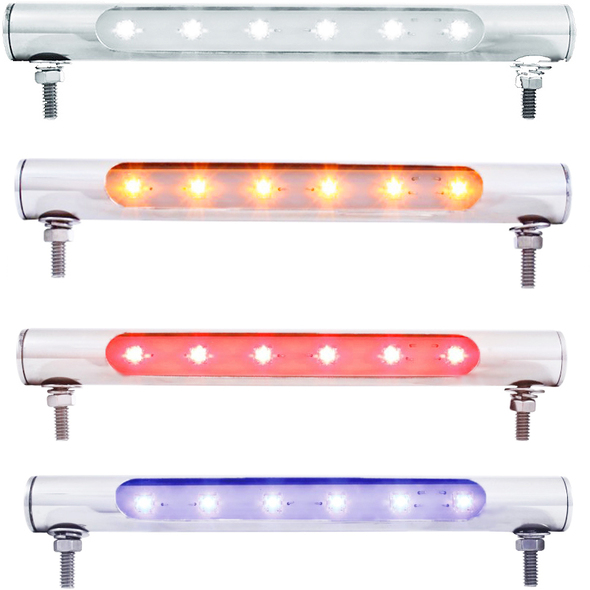 6 LED Stainless Steel License Plate Tube Lights
