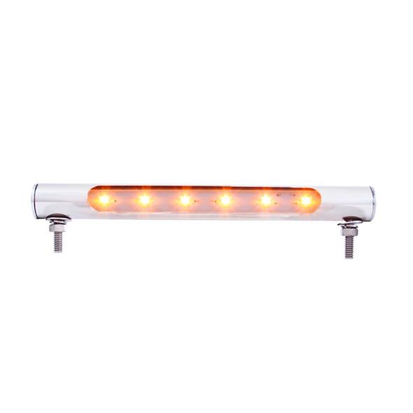 6 LED Stainless Steel License Plate Tube Light Amber