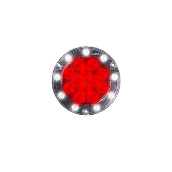 Hybrid Series LED Round Red Stop Tail Rear Turn & Back-Up Light