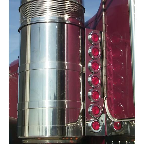 "Peterbilt 359 15"" Vortex Rear Breather Light Bar With 2"" Round LEDs"