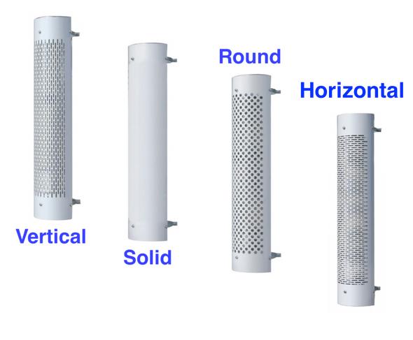 "10"" Stainless Steel Muffler Guard Heat Shield 48"" Long 270 Degree All Options"