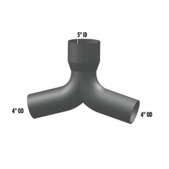 International 9300 Y-Pipe 598286C1 - Dimensions