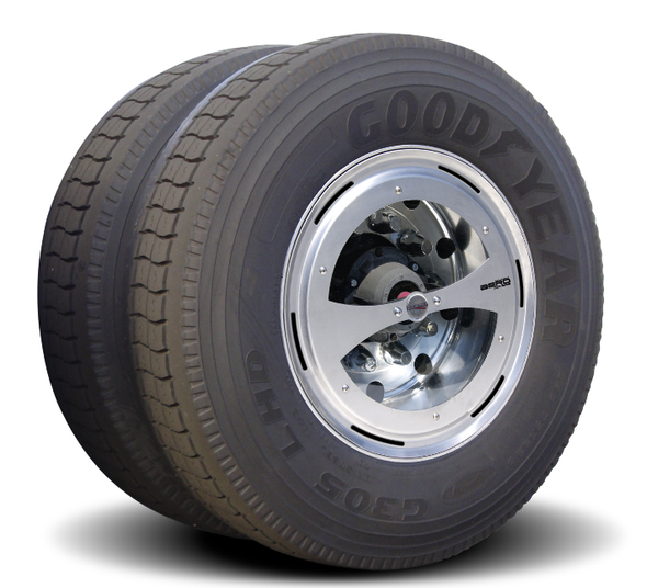 Clear Aero Axle Covers for Rear Drive Wheels