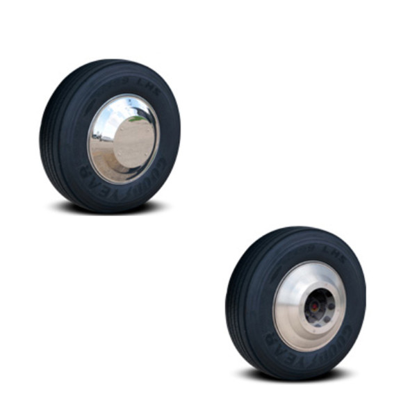 Aero Axle Covers for Front Steer Wheels