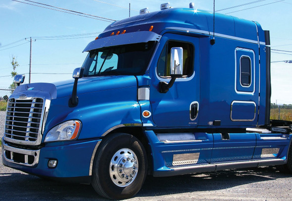 Hoodshield Bug Deflector for Freightliner Cascadia Side View