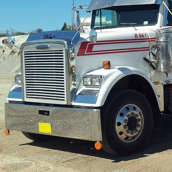Hoodshield Bug Deflector for Freightliner Classic Side View