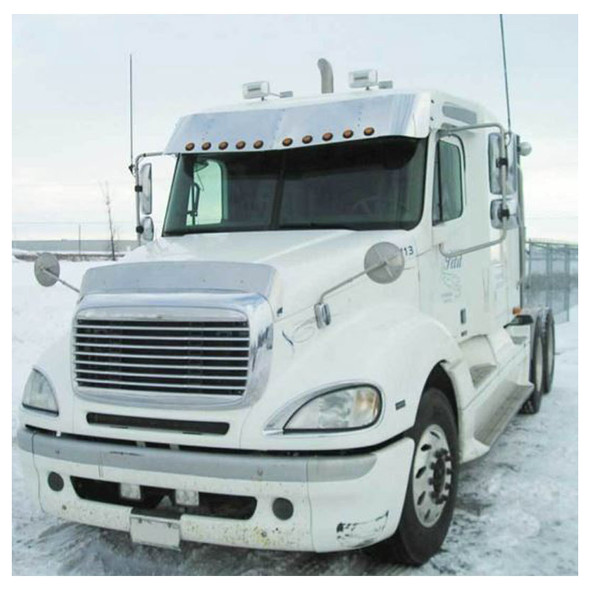 Freightliner Columbia Stainless Steel Bug Shield Deflector