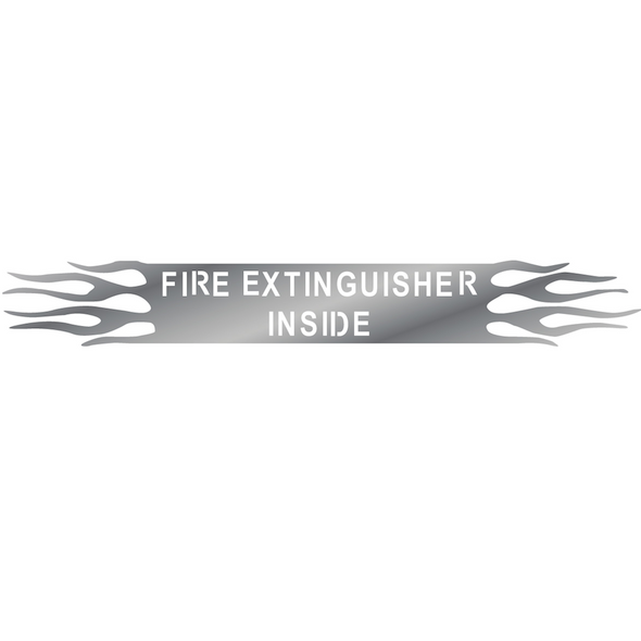 Universal Fire Extinguisher Inside Sign With Flames