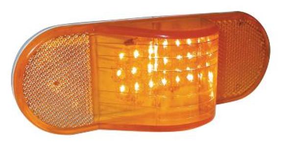 Oval Side Turn Hump Amber LED 18 Diodes
