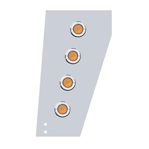 Peterbilt 359 Cowl Extensions With Round Flat LEDs & Chrome Plastic Bezels