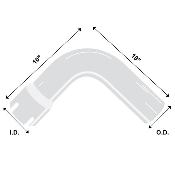 Chrome Exhaust Elbow Universal 90 Degree 5 Diagram