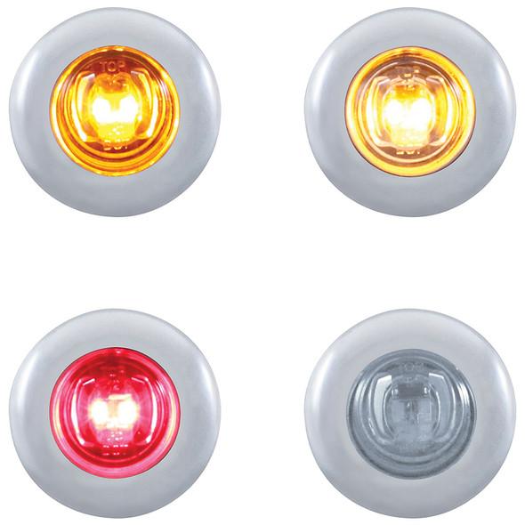 2 LED Mini Clearance Marker Light With Bezel