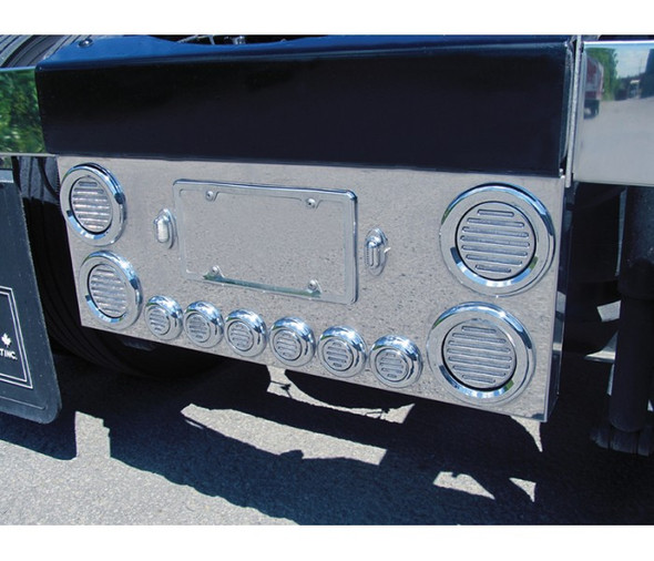 Rear Center Panel With Clear Red Flatline LED Lights On Truck Close Up