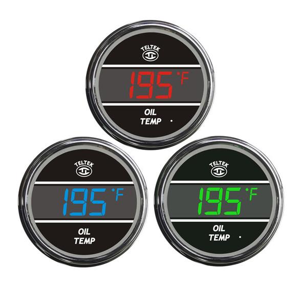 Truck Oil Temperature Teltek Gauge Color Display Option