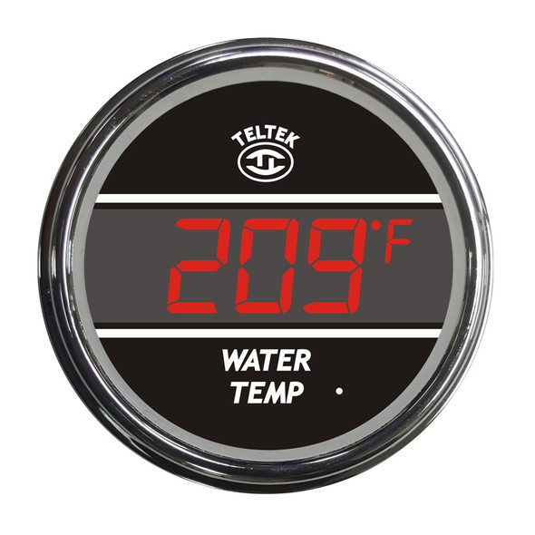 Truck Water Temperature Teltek Gauge - Red