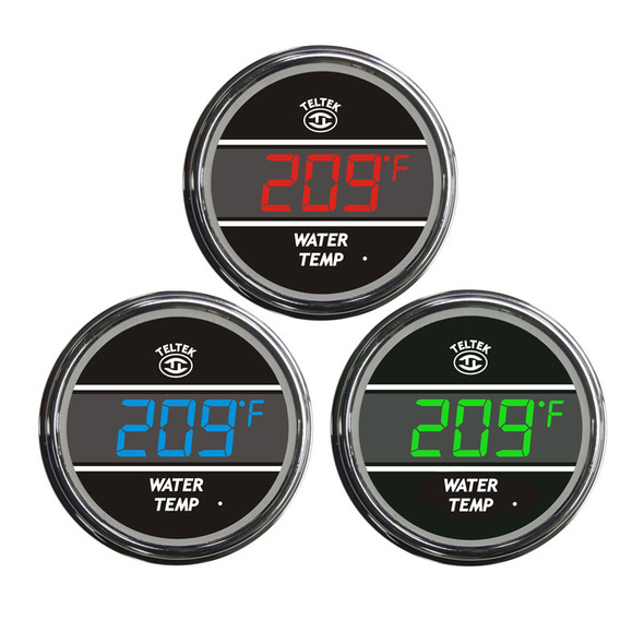 Truck Water Temperature Teltek Gauge Color Display Options