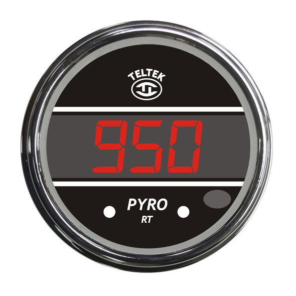 Truck Pyrometer Teltek Gauge With Mounting Hole - Red