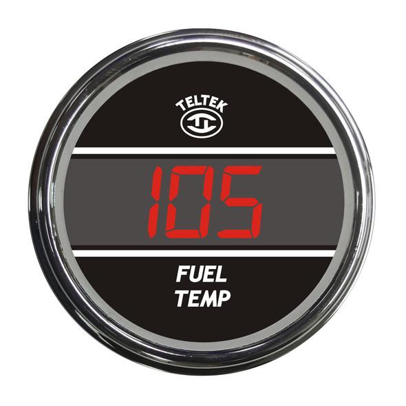 Truck Fuel Temperature Teltek Gauge - Red