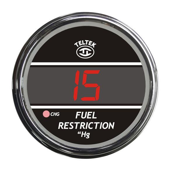 Truck Fuel Restriction Teltek Gauge - Red