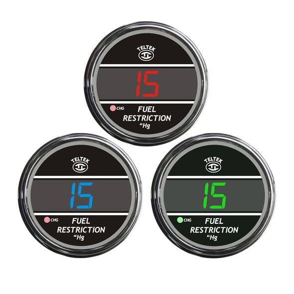 Truck Fuel Restriction Teltek Gauge Color Display Options