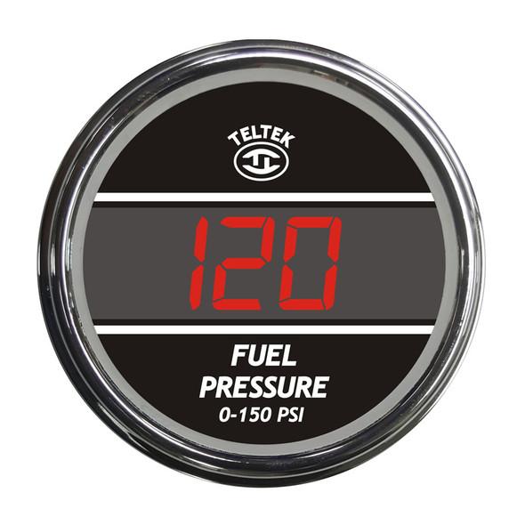 Truck Fuel Pressure TelTek Gauge 0-150 PSI - Red