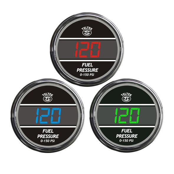 Truck Fuel Pressure TelTek Gauge Color Display Options