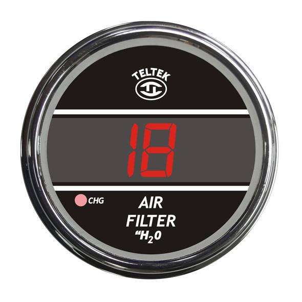 Truck Air Filter Monitor TelTek Gauge - Red