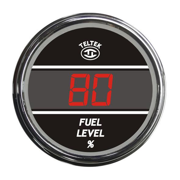 Truck Fuel Level TelTek Gauge - Red