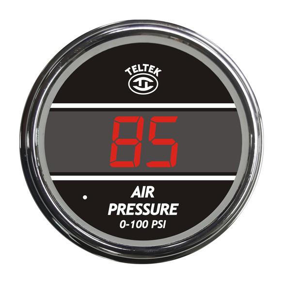 Truck Air Pressure TelTek Gauge 0-100 PSI - Red