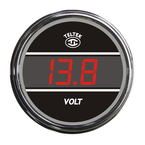 Truck Voltmeter TelTek Gauge - Red