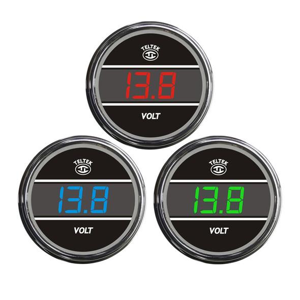 Truck Voltmeter TelTek Gauge Color Display Options