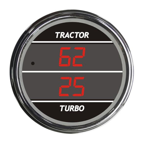 Truck Dual Display PSI Tractor/Turbo TelTek Gauge - Red