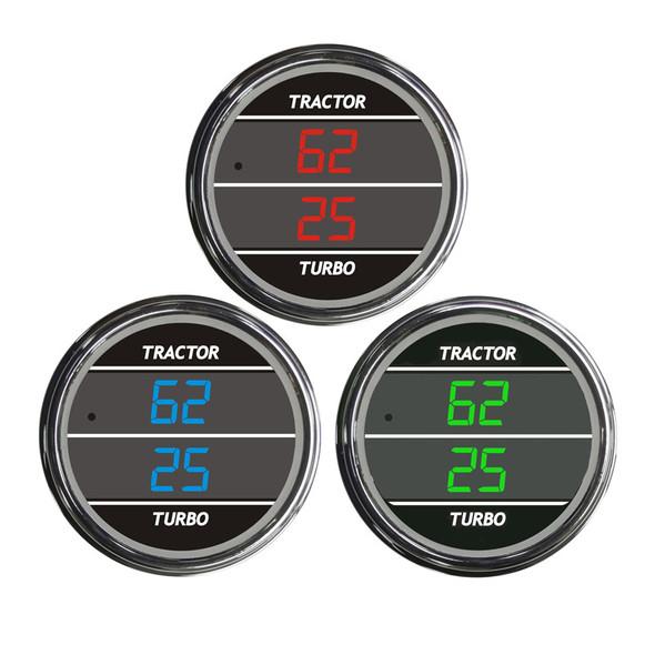 Truck Dual Display PSI Tractor/Turbo TelTek Gauge Color Display Options