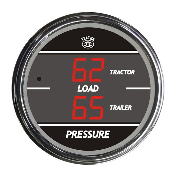Truck Dual Display Load Pressure Tractor & Trailer TelTek Gauge - Red