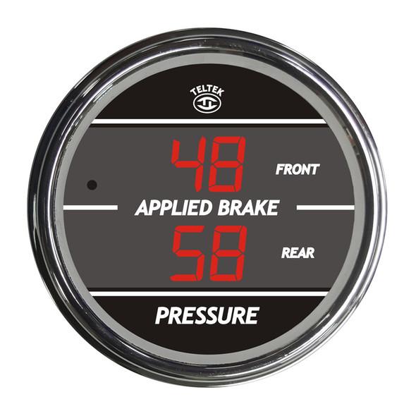 Truck Dual Display Applied Brake Front/Rear TelTek Gauge - Red