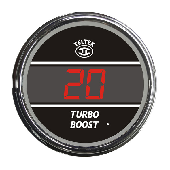 Truck Turbo Boost TelTek Gauge - Red