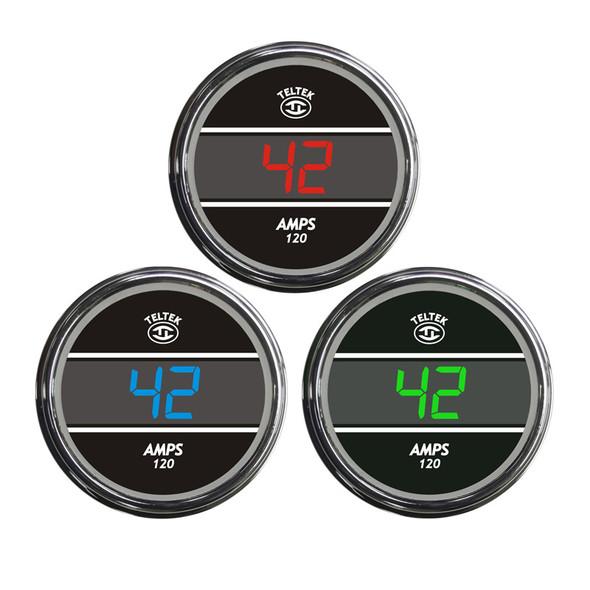Truck Amp Meter TelTek Gauge Color Display Options