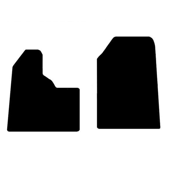 Peterbilt 357 377 378 & 379 Floor Mats Front Two-Piece Carpet Black