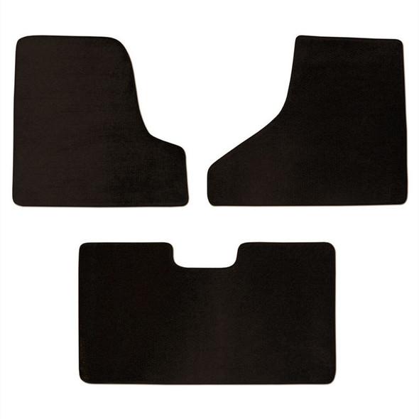 Freightliner Cascadia Floor Mats 3 Piece Kit 2010 & Up Carpet Manual Black