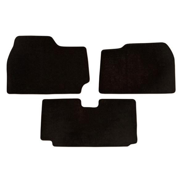 Kenworth T2000 Floor Mats 3 Piece Kit 2000-2010 Carpet Black
