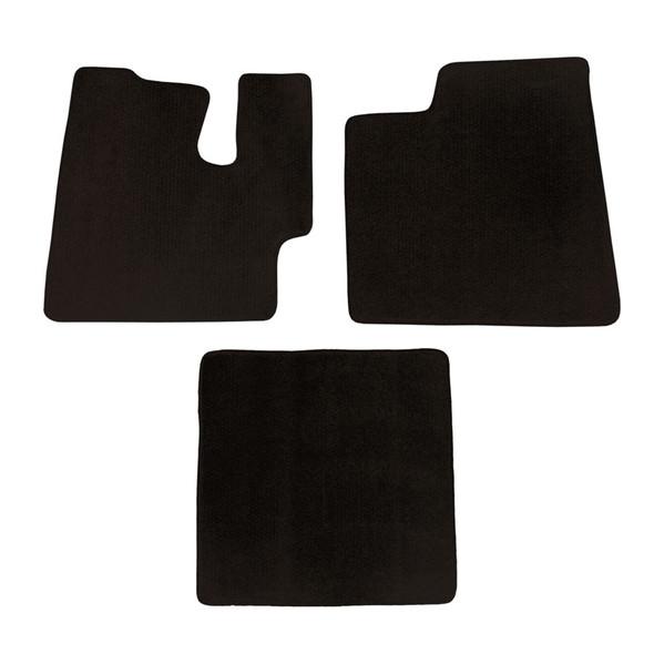 Kenworth T660 T800 W900 Floor Mats 3 Piece Kit Carpet Black Manual Transmission
