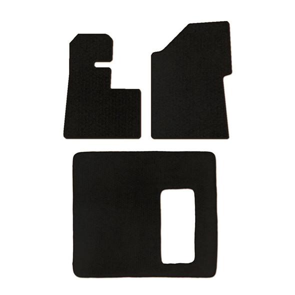 Peterbilt 389 388 386 Floor Mats 3 Piece Kit 2008 & Newer WITH Thermos Holder Carpet Black