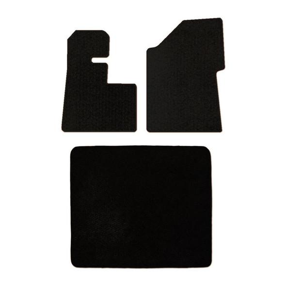 Peterbilt 389 388 386 Floor Mats 3 Piece Kit 2008 & Newer NO Thermos Holder Carpet Black