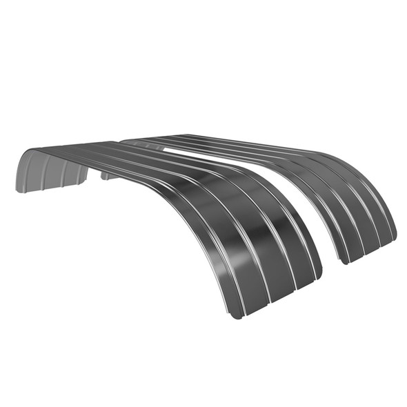 Spray Master Classic DRC Double Radius Ribbed Stainless Steel Fender - Set